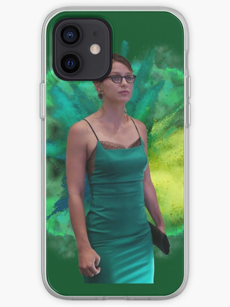 Melissa Benoist green background | iPhone Case & Cover