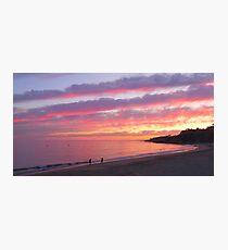 sunset on the Algarve coast Photographic Print