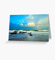 Dicky Beach Rainbow Greeting Card