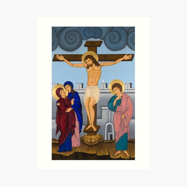 The Crucifixion Byzantine Art Art Print