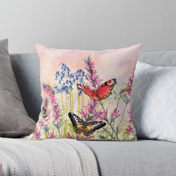 Wild meadow Throw Pillow