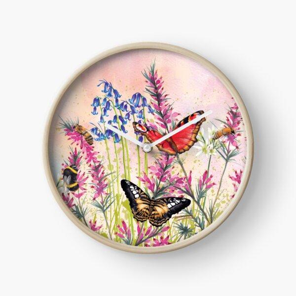 Wild meadow Clock