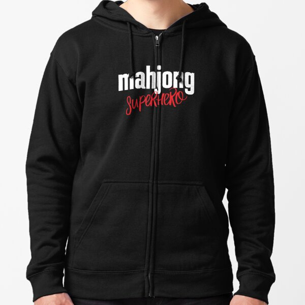 Mahjong Superhero Zipped Hoodie