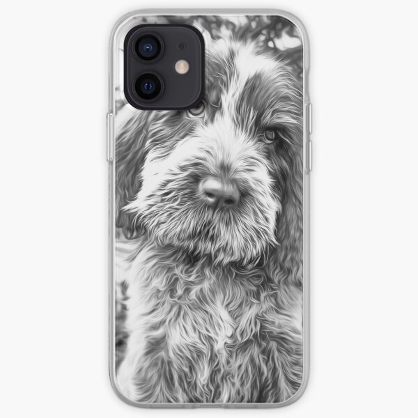 Sitting puppy Spinone iPhone Soft Case