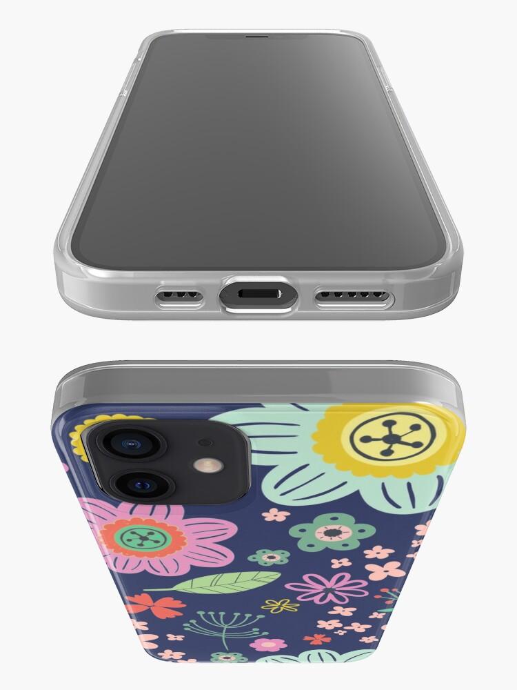 Alternate view of flower pattern iPhone Case