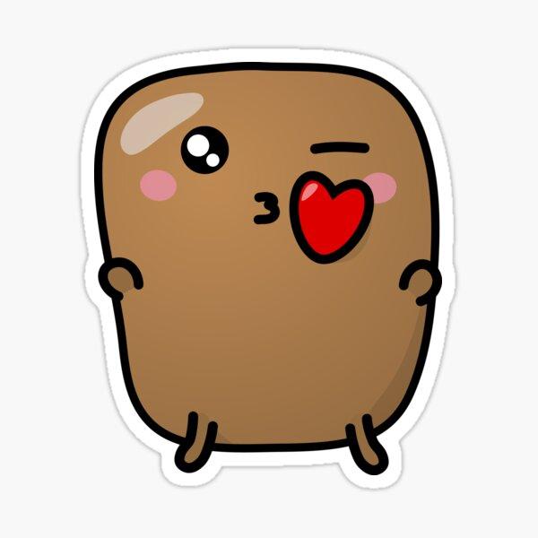 Jagaimo The Potato - The Kiss Sticker