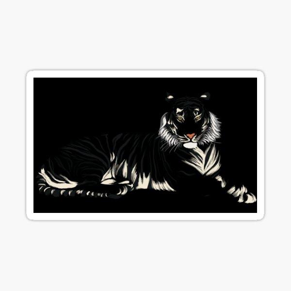 Tigre - Noir et Blanc Sticker