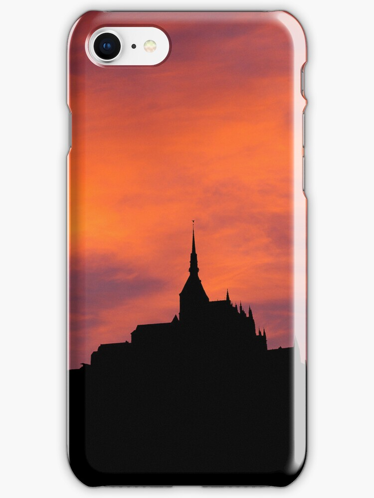 iphone case Mont-Saint-Michel  by David Carton