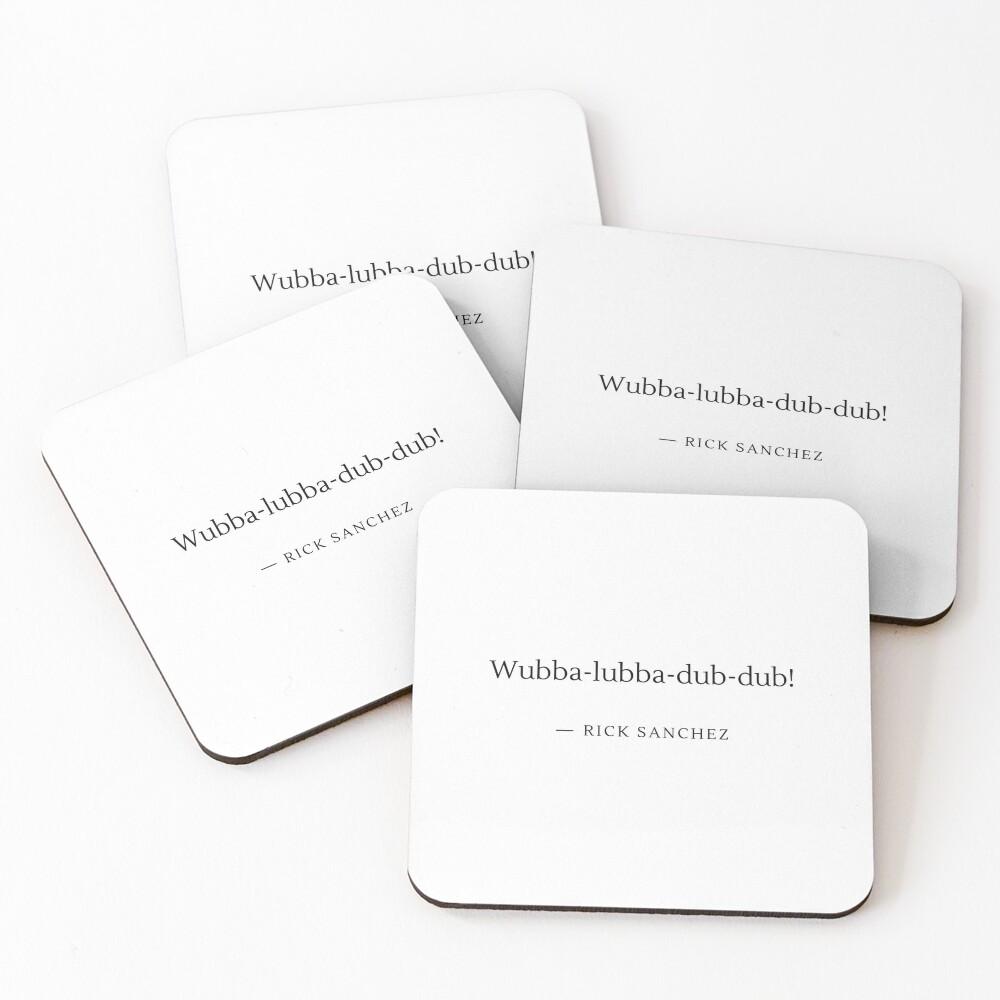 Wubba-lubba-dub-dub! Coasters (Set of 4)