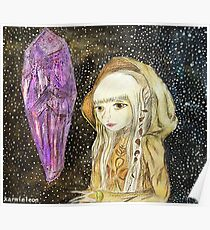 The Dark Crystal - Kira Water Color + Mixed Media Poster