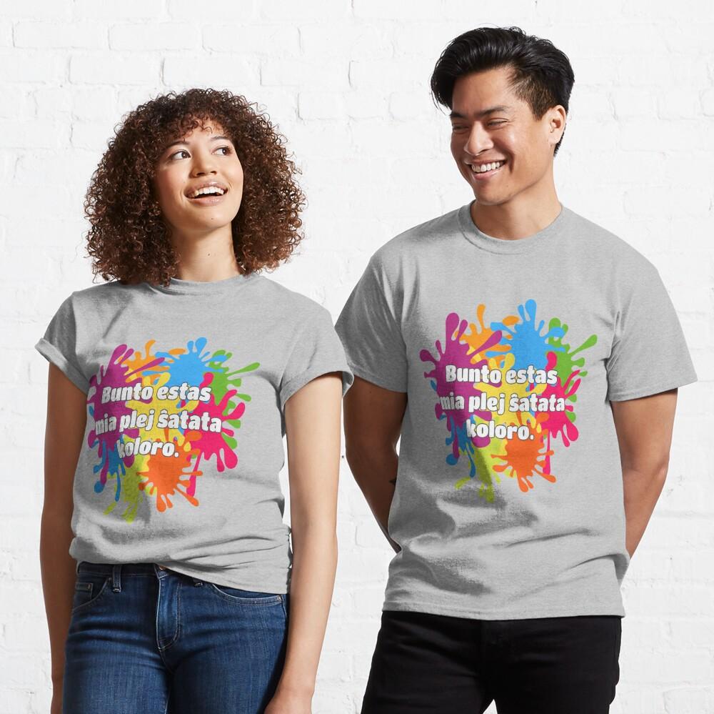 Bunto estas mia plej ŝatata koloro (longa versio) Classic T-Shirt