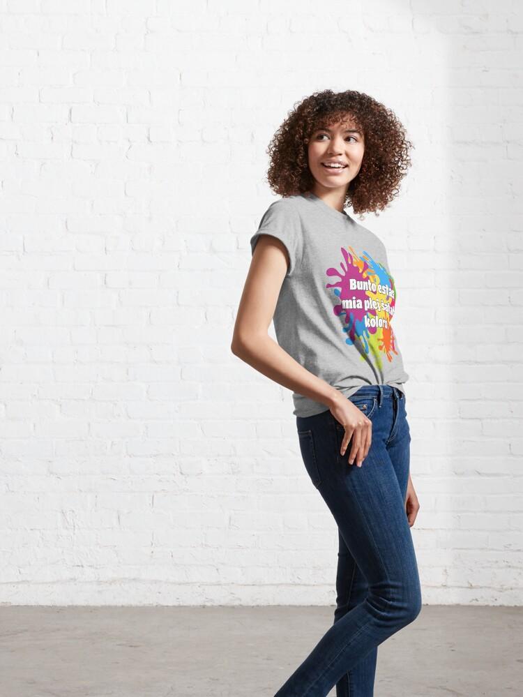 Alternate view of Bunto estas mia plej ŝatata koloro (longa versio) Classic T-Shirt