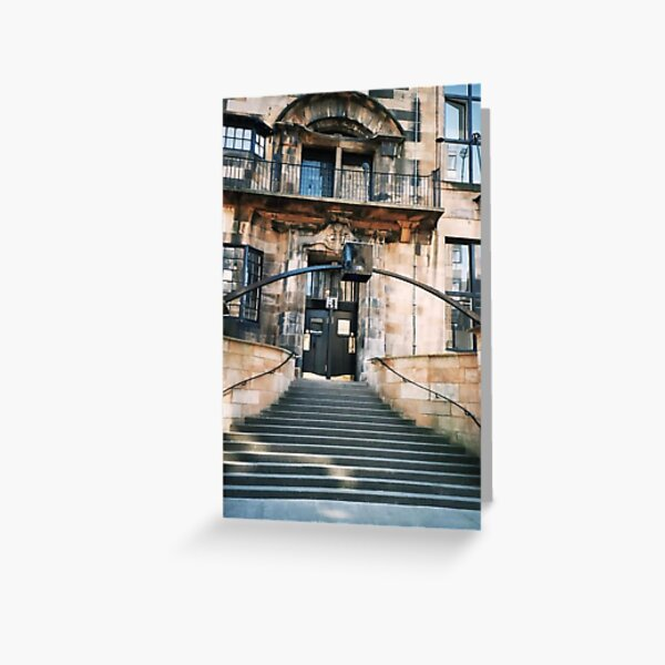 Glasgow School Of Art, Front Door 2 Greeting Card