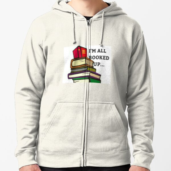 BOOKED style fashion reading design Zipped Hoodie