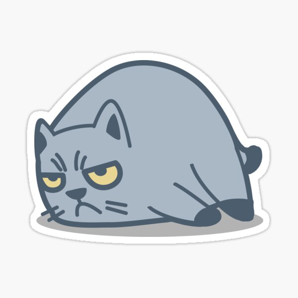 Grumpy Cat Tshirt and Stickers - Cat Gifts for Cat lovers everywhere! Sticker