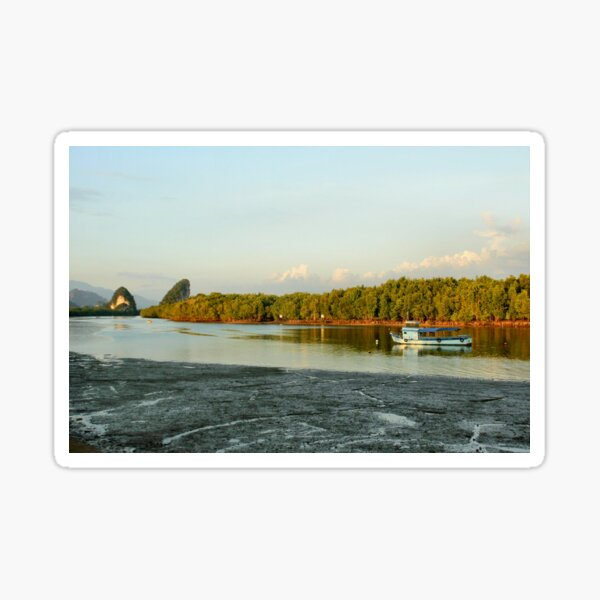 Early evening on the Krabi river Sticker