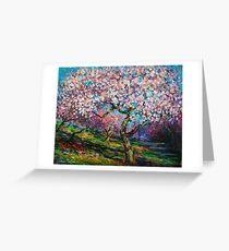 Impressionistic Spring Blossoms landscape Svetlana Novikova Greeting Card