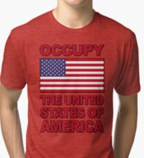 Occupy The United States of America Tri-blend T-Shirt