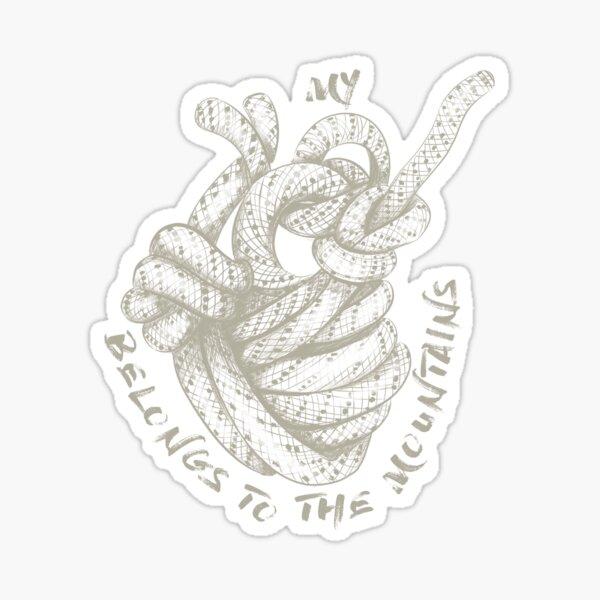 My Heart Belongs To The Mountains - Chalk Sticker