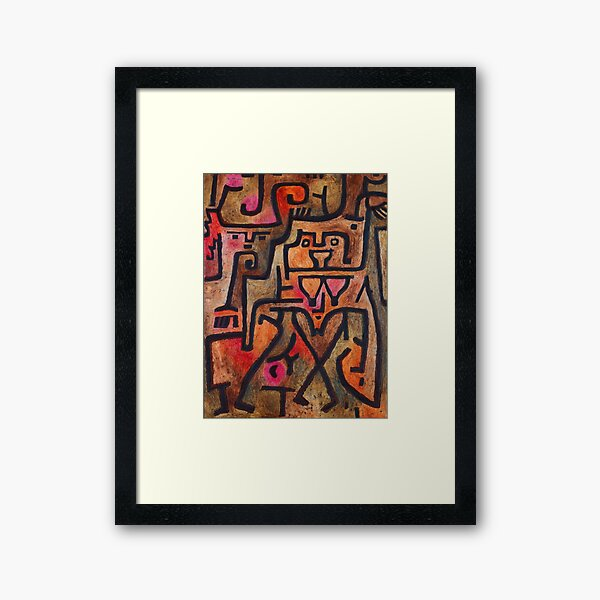 Paul Klee - Forest Witches Framed Art Print