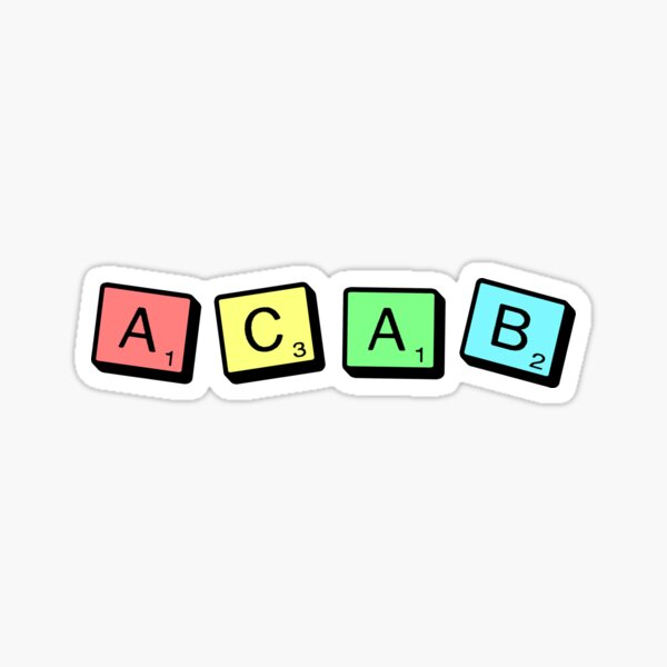 ACAB Scrabble Sticker