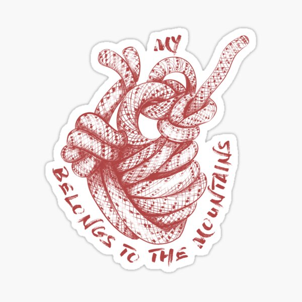 Copy of My Heart Belongs To The Mountains - #4 Red Sticker