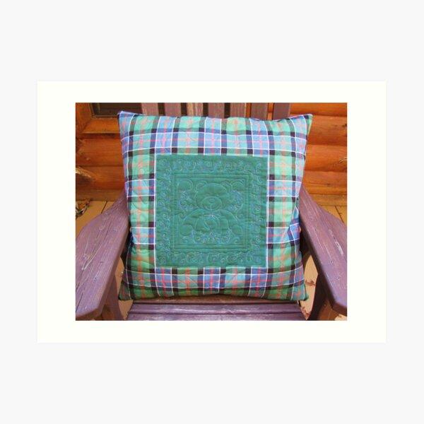 Rosie Bear Pillow For Sam Art Print