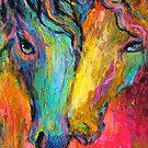 Vibrant Impressionistic Horses painting by Svetlana  Novikova