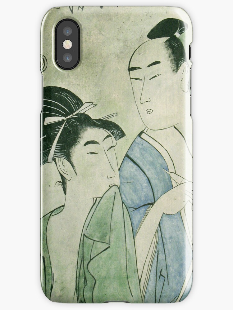The Lovers Ochiyo and Handei iPhone Case by Carrie Jackson