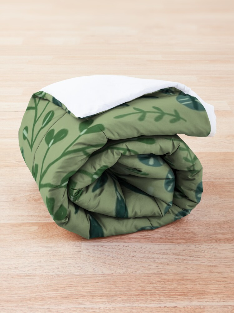 Alternate view of green leaves. leaf. nature. wild floral flowers Comforter