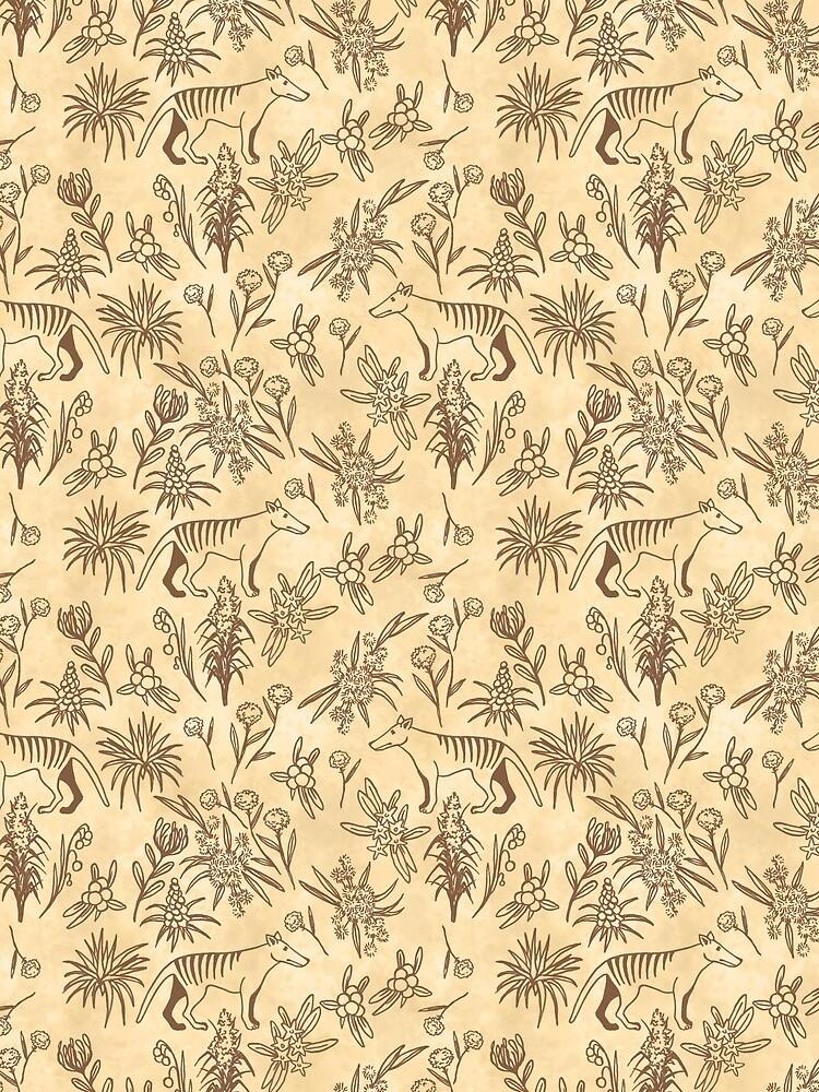 Thylacine Pattern by Olooriel
