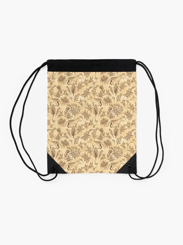 Alternate view of Thylacine Pattern Drawstring Bag