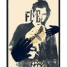 Dada Tarot- 5 of Cups by Peter Simpson