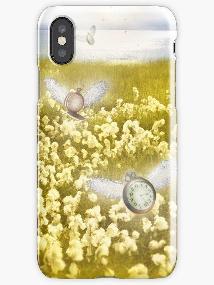 Time Flies iPhone Case by Carrie Jackson