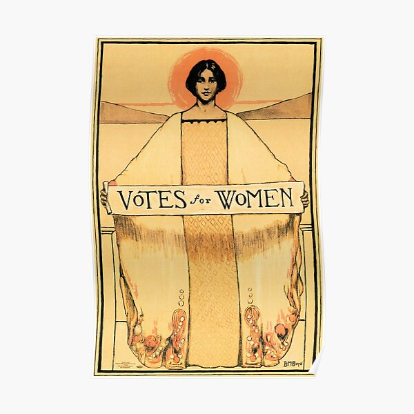 VOTES FOR WOMEN 1913 American Woman's Suffrage Political Propaganda Poster Art Poster