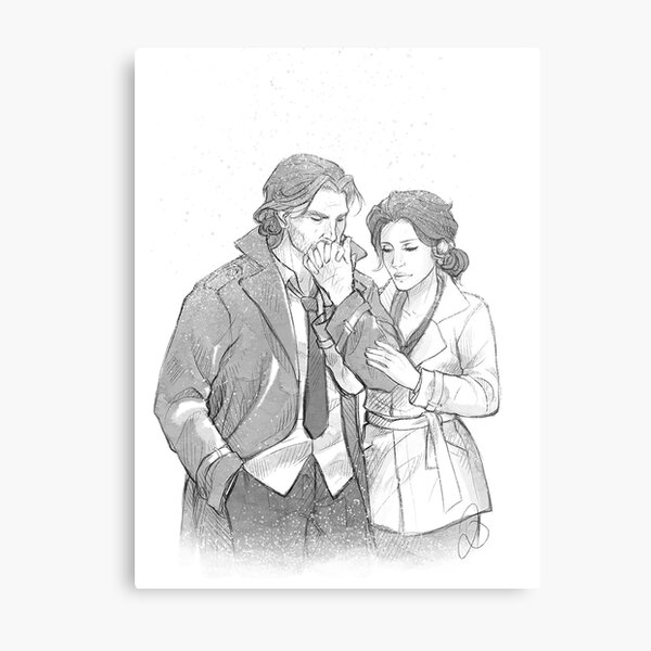 Bigby Wolf and Snow White Metal Print