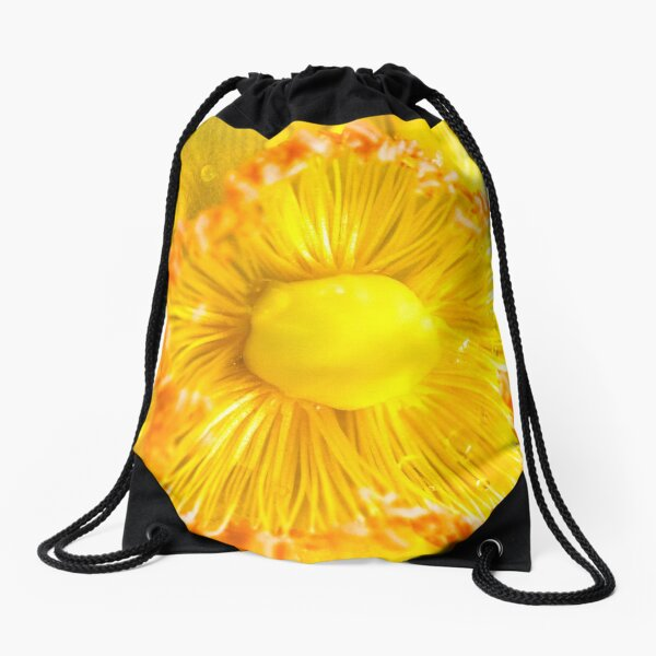 Spring Yellow Sunshine Drawstring Bag