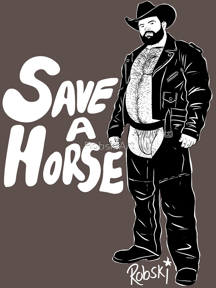 Save a Horse - Black lines by RobskiArt