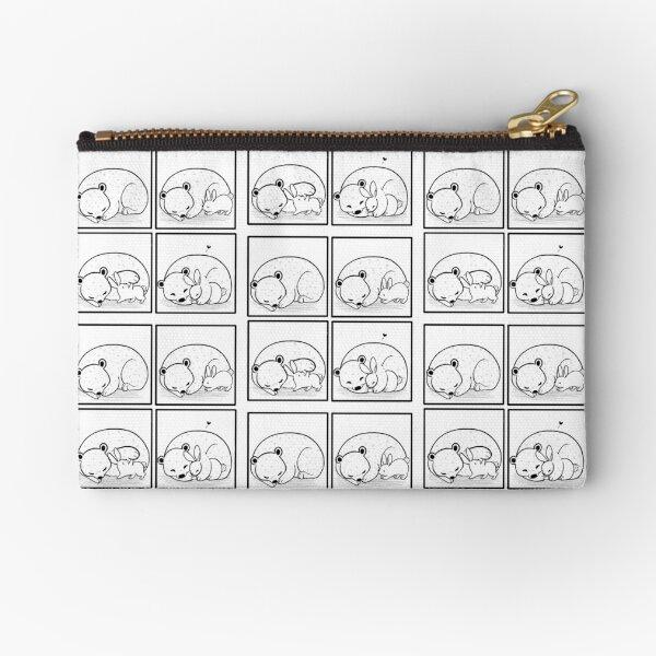 Bear and Bunny comic Zipper Pouch
