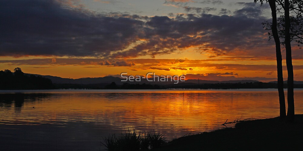 Red Glow on the Lake by Sea-Change