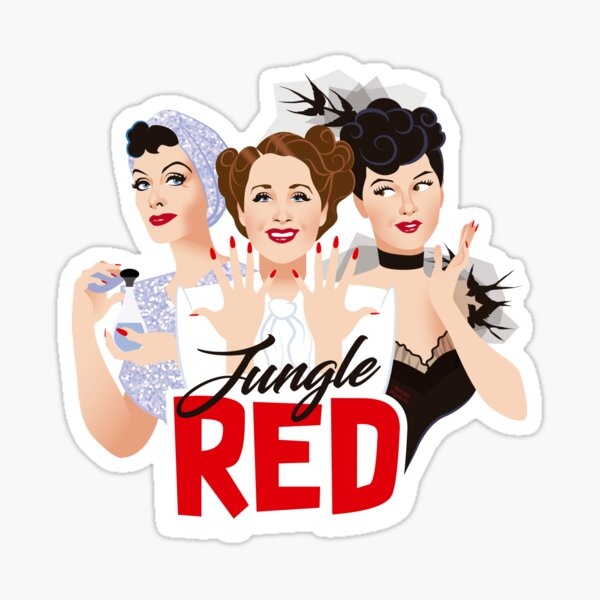 Jungle Red Sticker