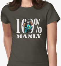 Manly Man man manbike Women's Fitted T-Shirt