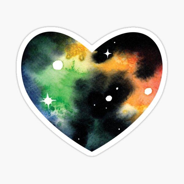 Rainbow Space Heart Sticker