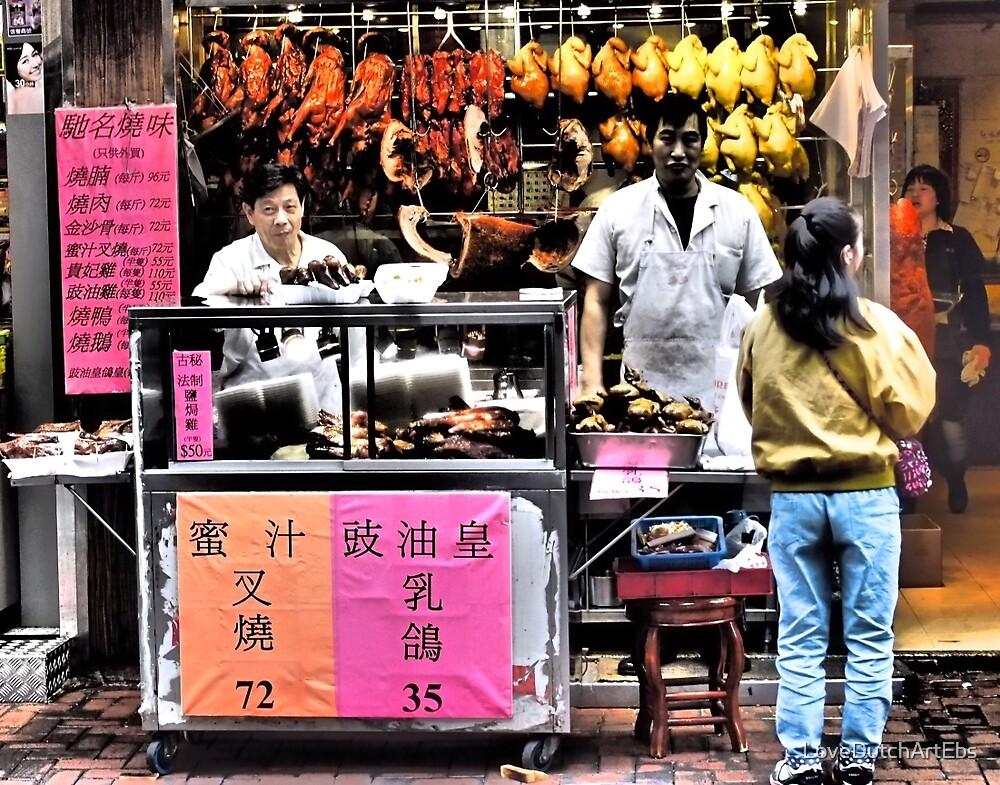 serious sells...fantastic Peking duck... by LoveDutchArtEbs