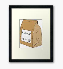 DEAD DOVE- Do Not Eat Framed Print