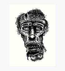 Slack-Jaw Zombie Art Print
