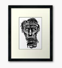 Slack-Jaw Zombie Framed Print