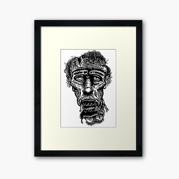 Slack-Jaw Zombie Framed Art Print