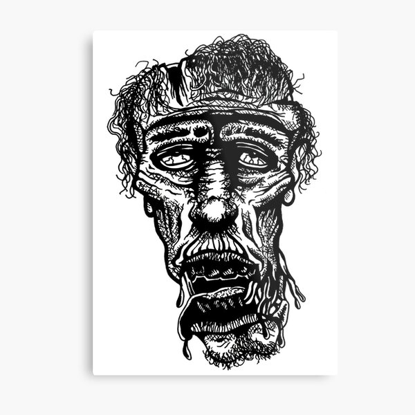 Slack-Jaw Zombie Metal Print
