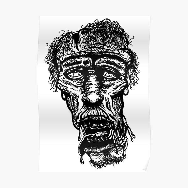 Slack-Jaw Zombie Poster